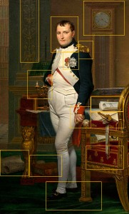 Napolean in His Study by French artist Jacque-Louis David in 1812.